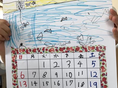 6月のカレンダー作り