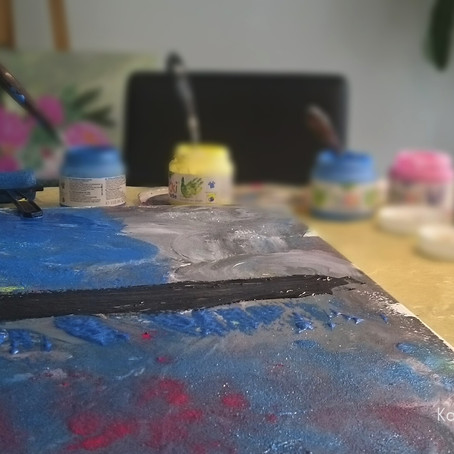How painting with my son, became a new experience for me