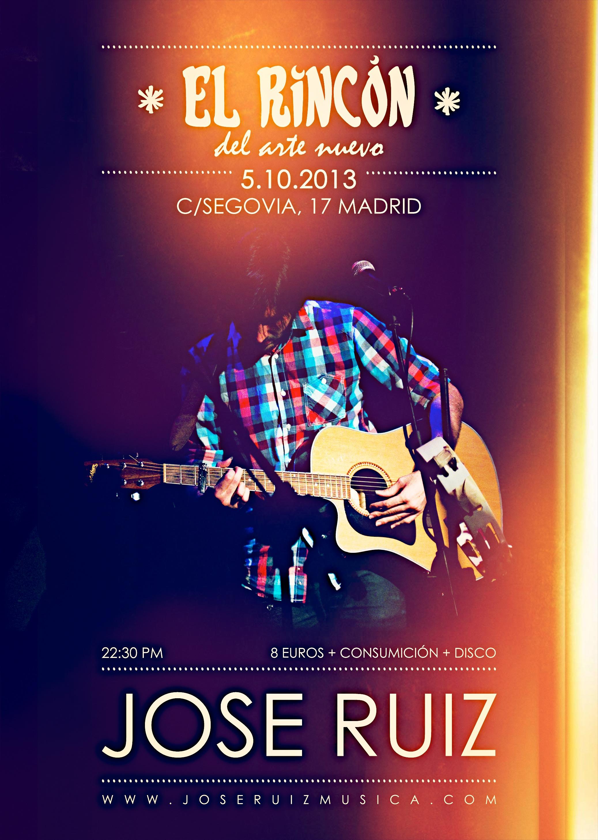 Cartel del concierto de Jose Ruiz