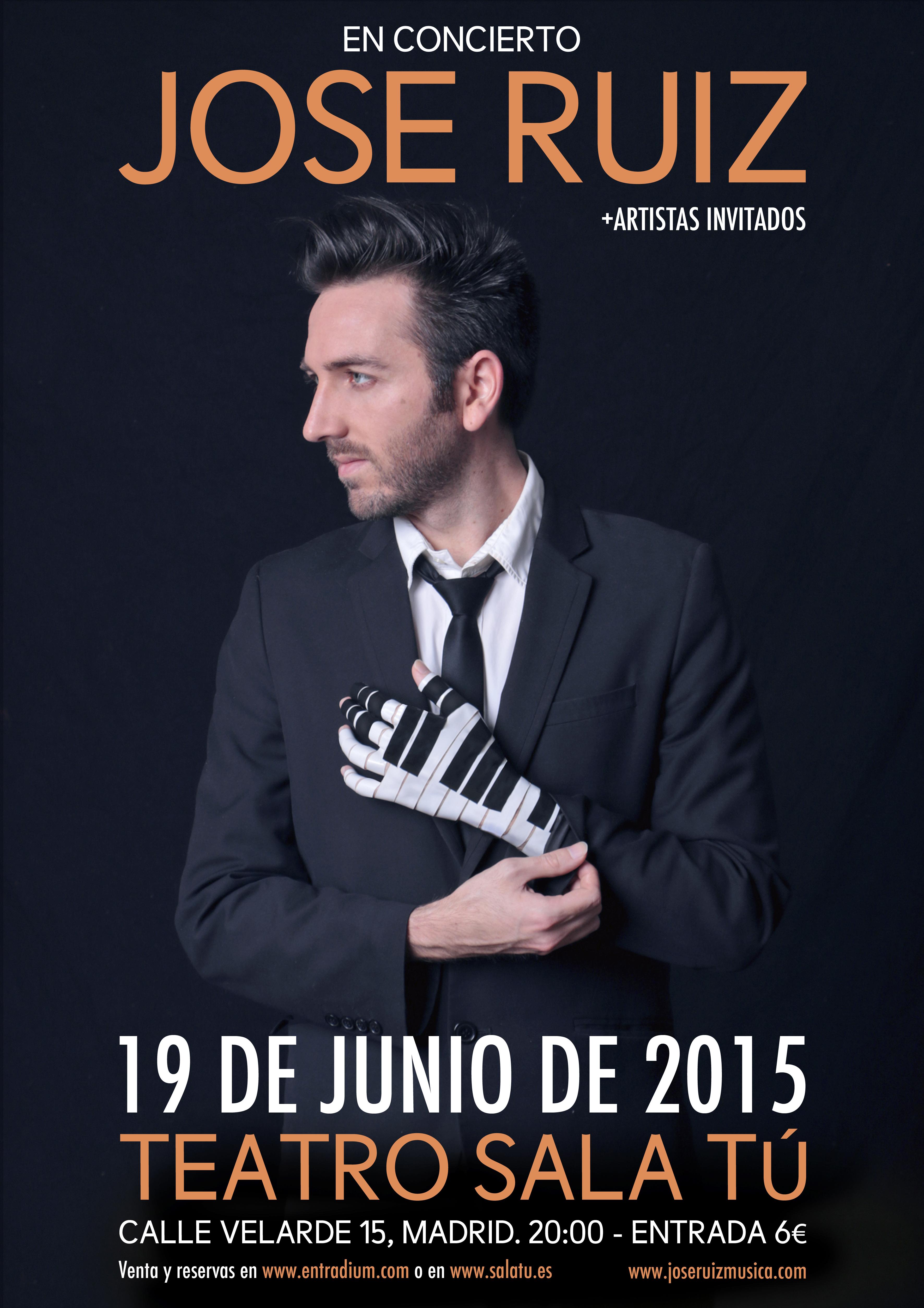 Cartel de un concierto de Jose Ruiz
