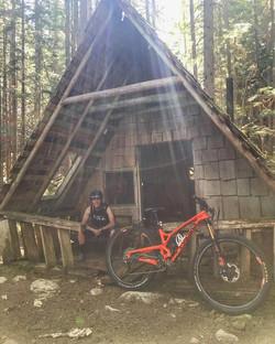 Elladee riding in the Kootenays