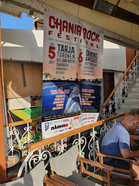 One year ago at the Chania Rock Festival !