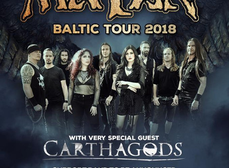 Carthage's Supporting Mayan on the Baltic Tour 2018