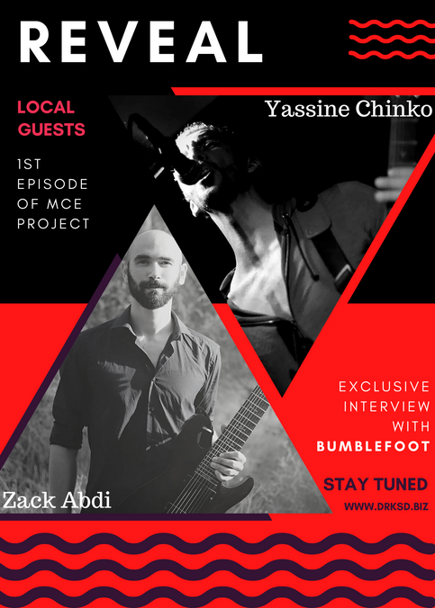 "Local artists revealed for the 1st episode of the MCE Project along with Ron ""Bumblefoot"" Thal"