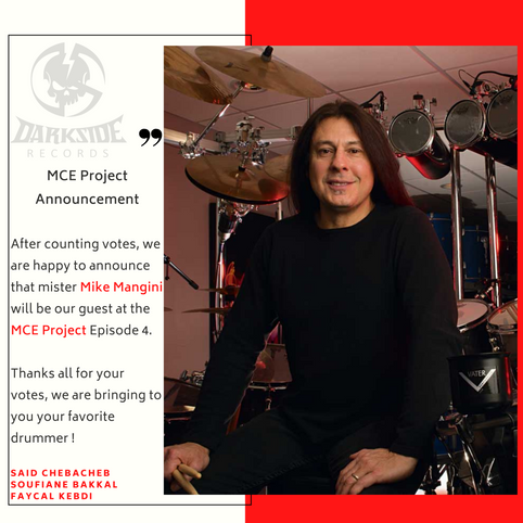Mike Mangini will be our guest at the MCE Project Ep4 !