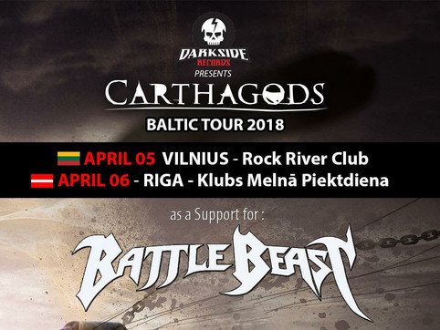 Darkside Records presents...Carthagods Baltic Tour 2018 !