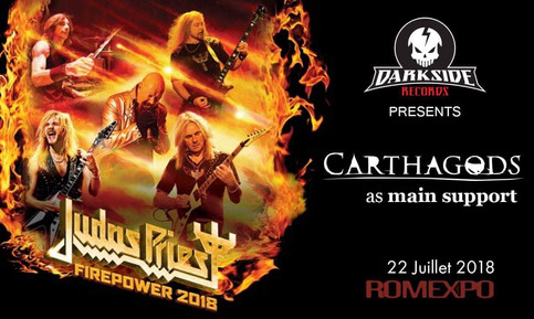 Guess what...Carthagods as main support for Judas Priest this Summer!!!
