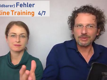 (Vermeidbarer) Fehler im Online Training 4/7