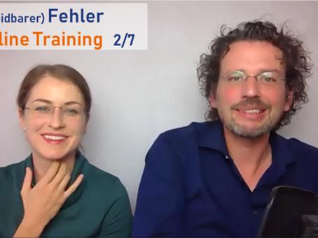 (Vermeidbarer) Fehler im Online Training 2/7