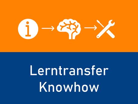 Lerntransfer-Knowhow für Trainer*innen