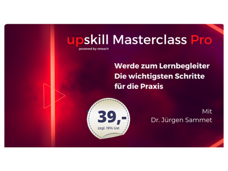 Kommt zu unserer Upskill Masterclass! (21.05., 10:00 Uhr)