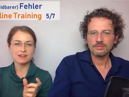 (Vermeidbarer) Fehler im Online Training 5/7