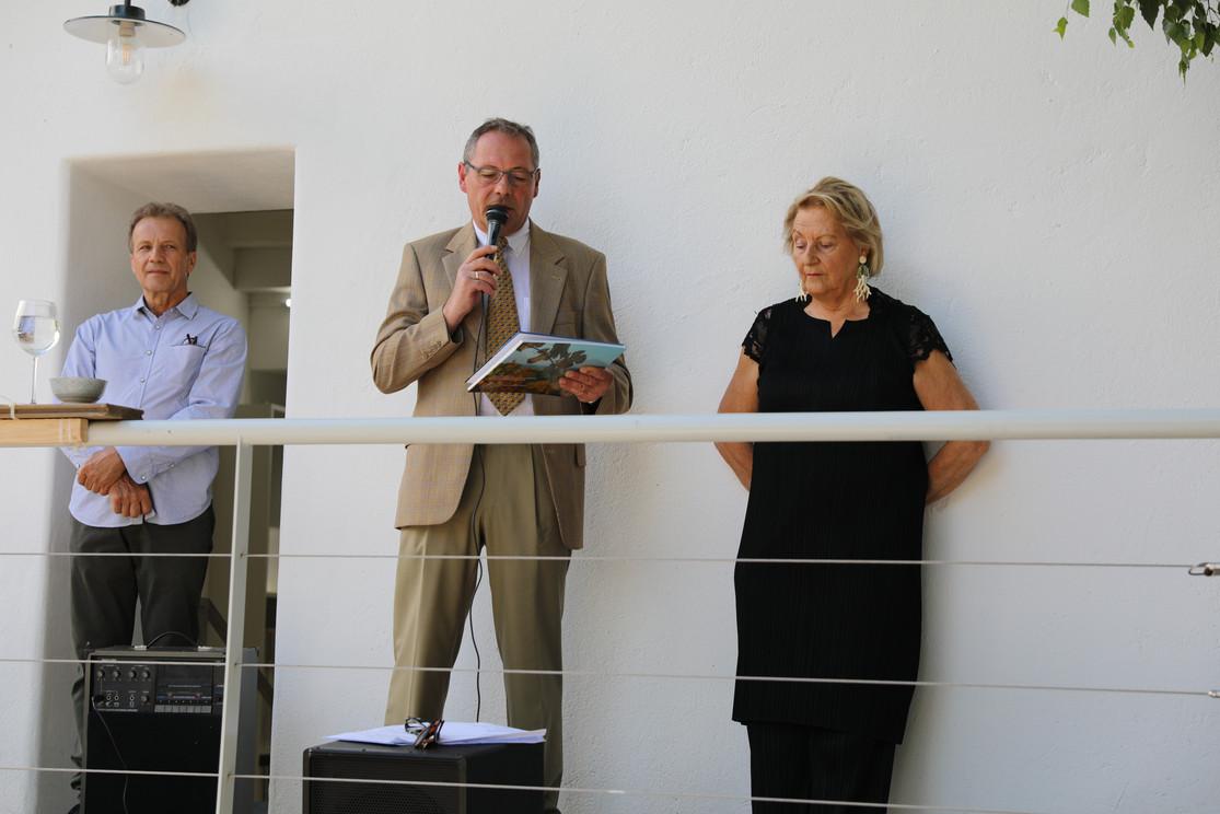 Eröffnungsrede Wolfgang Alexowsky mit Dr. Ursula Krinzinger