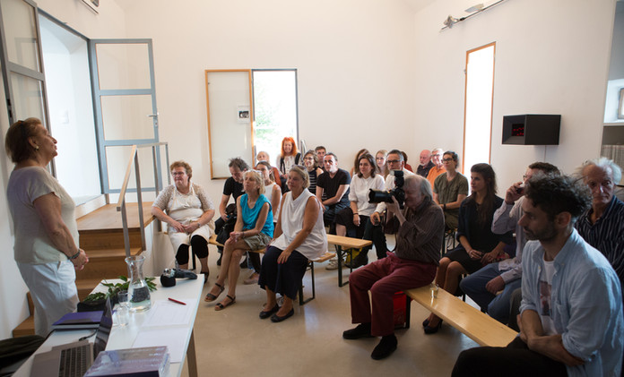 Dr. Ursula Krinzinger und Publikum