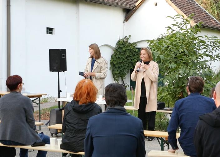 Sabine Scholl im Krinzinger Lesehaus