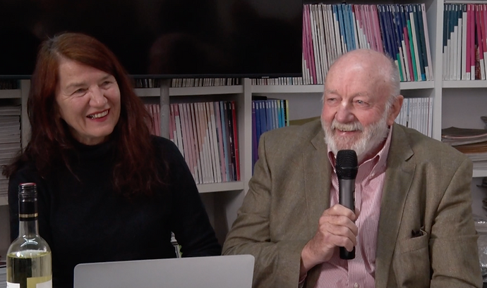 Dr. Elisabeth von Samsonow und Dr. August Ruhs im Gespräch