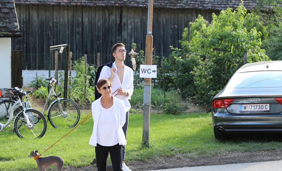 Brigitte Kowanz und Sohn Adrian Kowanz