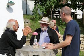 Carl Pruscha, Univ. Prof. Dr. August Ruhs  und Robert Diem