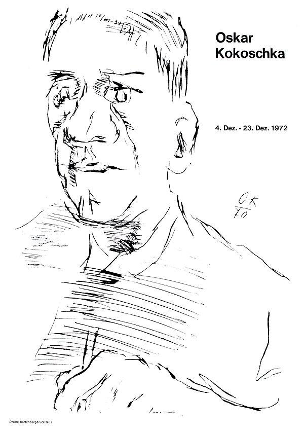 Oskar Kokoschka Plakat Galerie Krinzinge