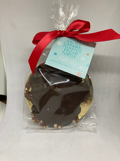 Giant Salted Caramel Toasted Pecan Turtle