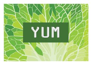 YUM Card - Lettuce