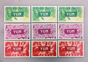 YUM Cards, Printed