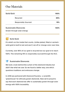 Vrai & Oro Ingredients Label