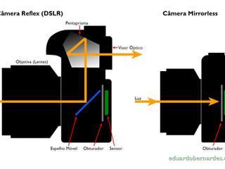 Diferenças entre câmeras mirrorless (sem espelho) e DSLR
