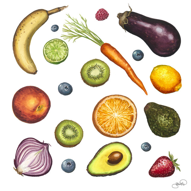Fruit and Vegetables Print