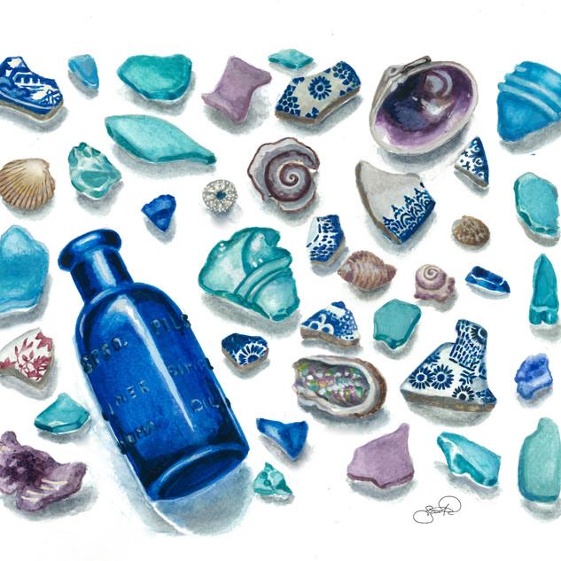 Blue bottle Treasures