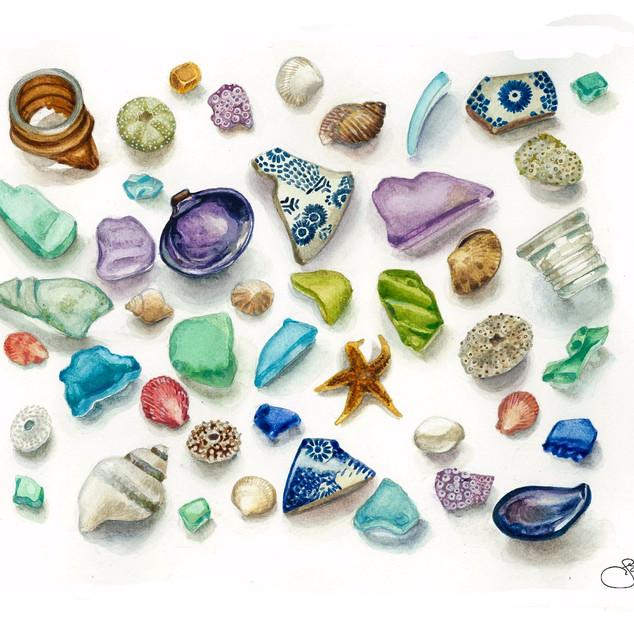 Beach Combing Treasure