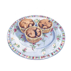 Muffins on Plate