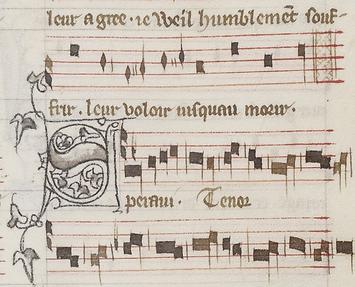 Fin du motetus et début du tenor