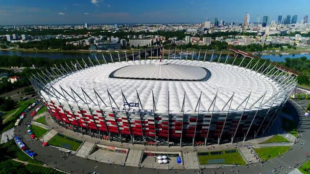 Panorama Warszawy ze Stadionem PGE Narodowy