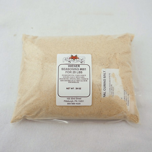 Wiener Seasoning #681 - 29oz.