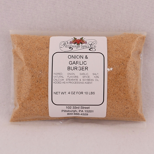 Onion & Garlic Burger Seasoning 4oz.
