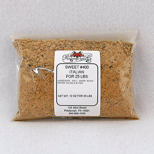 Sweet Italian Sausage Seasoning #400 - 12oz.