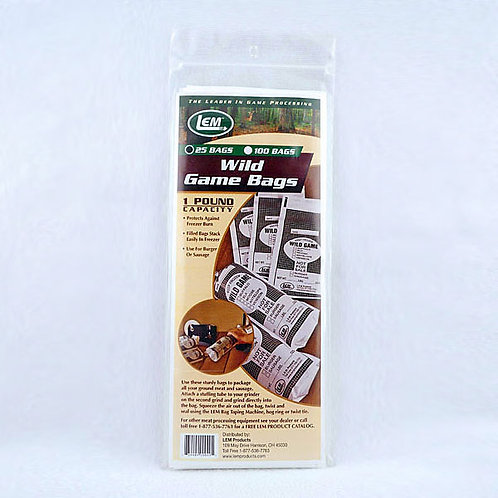 Wild Game Bags 1lb. 25ct.