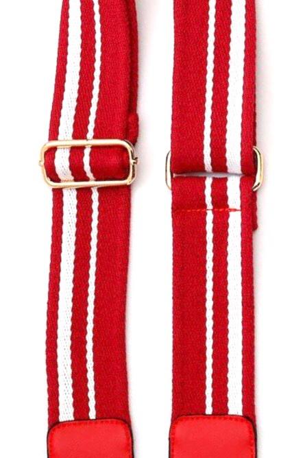 Red/White Stripe Crossbody Strap