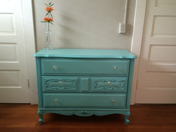 Teal changing table
