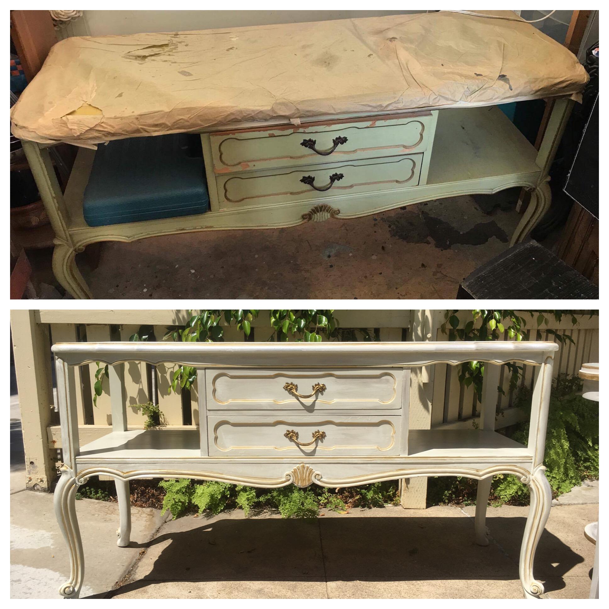 Before and After - Vintage desk