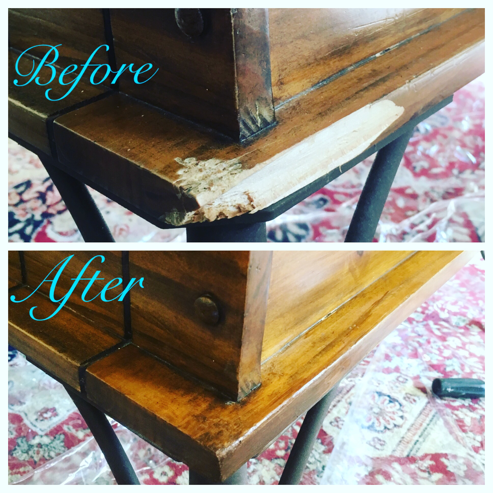 Before and After - Coffee table