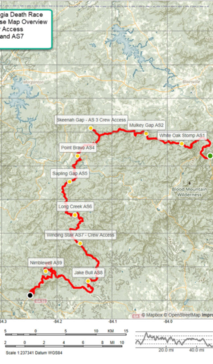Georgia Death Race Course Map