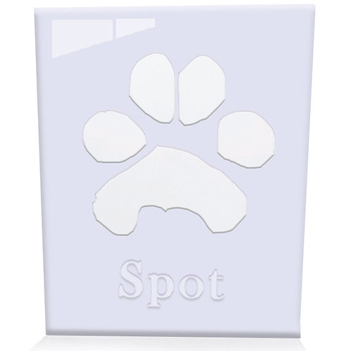 Acrylic Paw Print (includes an ink paw print)