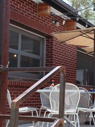 Outdoor patio of Gabe's Cafe