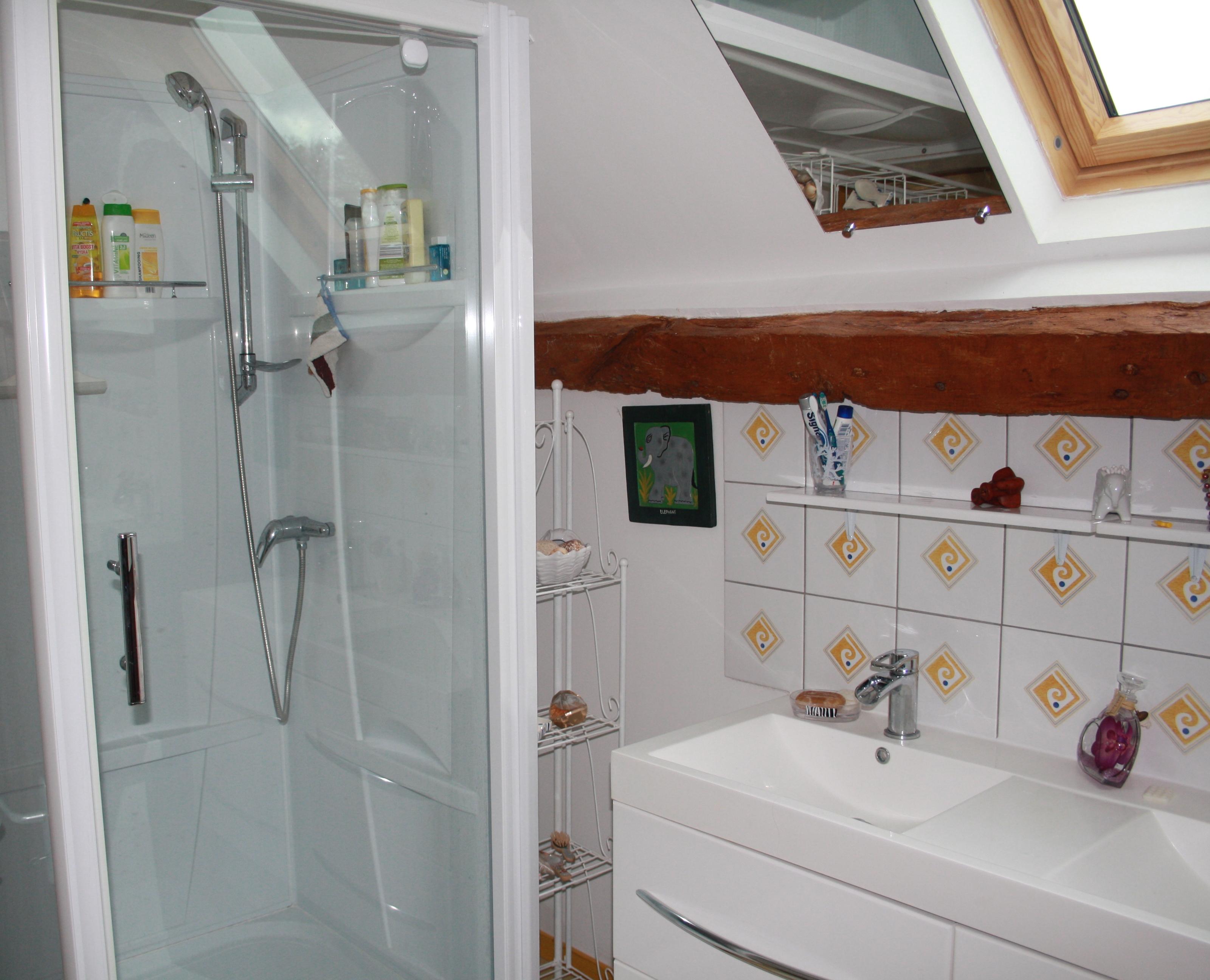 salle de douche WC gîte Marilou