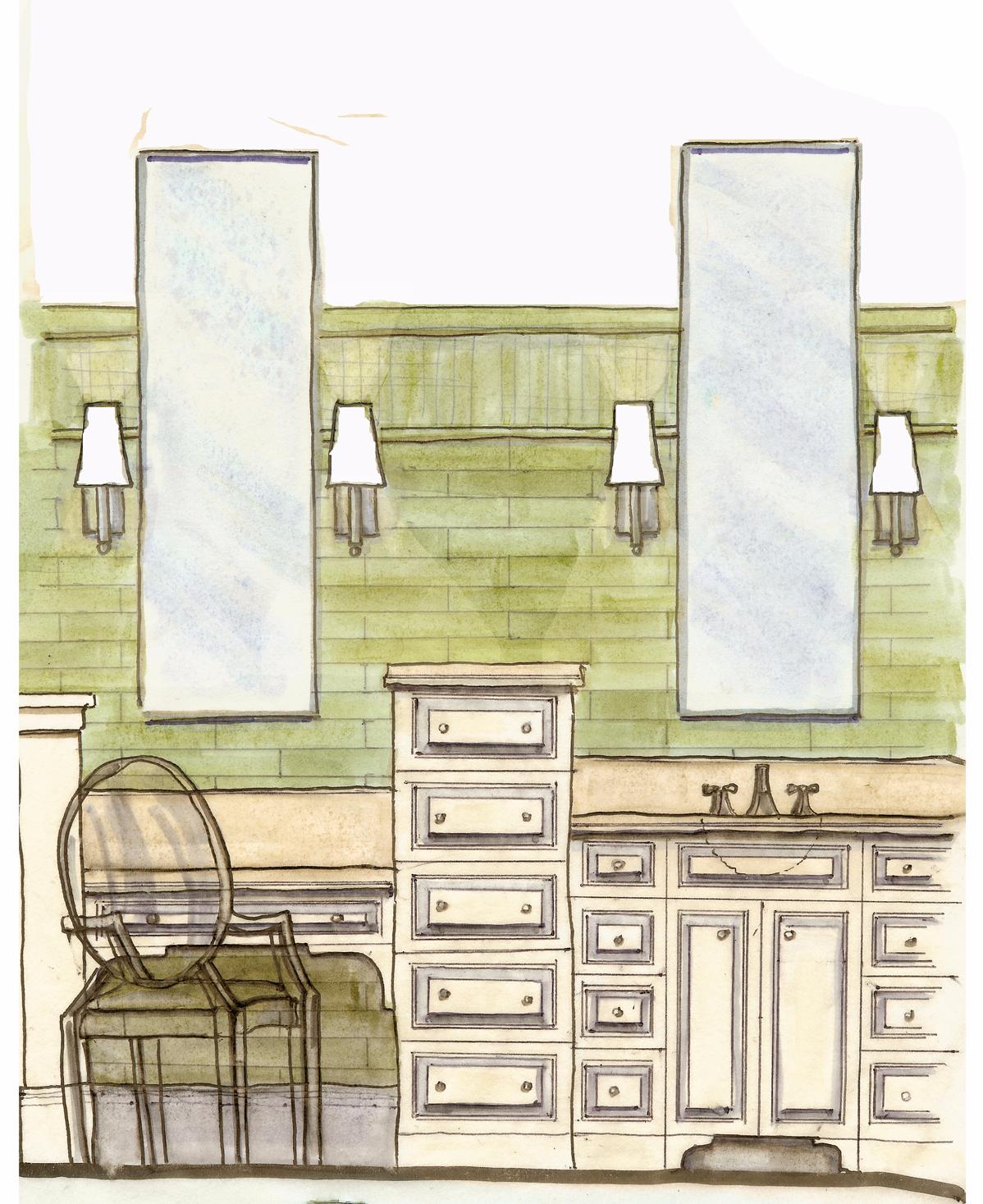 master bathroom marker rendering