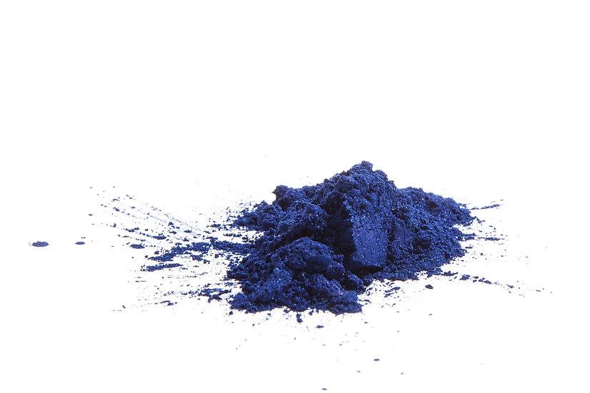 Mica bleu saphir
