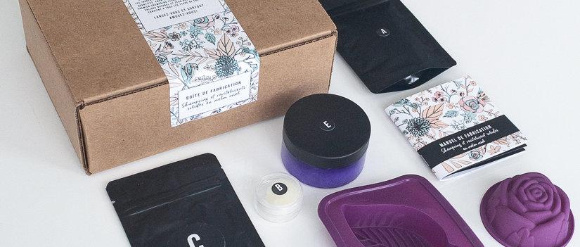 Boîte de fabrication - Shampoing et revitalisant solides