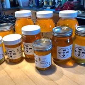 Raw Unpasteurized Pure Local Honey - half-pint (net wt. .75 lbs.)